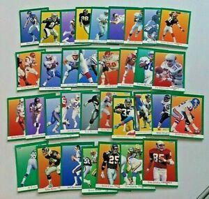 Lot of 34 1991 FLEER Football Cards Commons & Minor Stars 9134