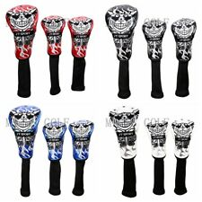 3x Golf Driver Fairway Wood Cover Skull Headcover for Taylormade Ping  Wood Club