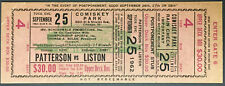 1962 Heavyweight Championship Boxing Ticket Sonny Liston vs Floyd Patterson