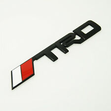 1 Pcs Car Boot Rear Side BLACK Emblem TRD Badge Decal Sticker For Toyota s194