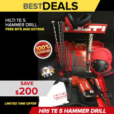 Hilti Te 5 Hammer Drill Nice Condition Free Survival Knife Extras Quick Ship
