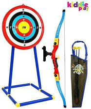 Kids Bow Arrow Target Set Play Toy Archery Outdoor Practice Gift Boy Girl NEW