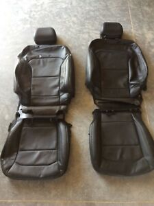 2016 2017 2018 2019 Ford Explorer OEM Front Seat Covers Black Leather