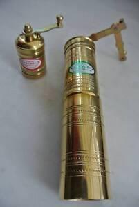Turkish Coffee Pepper Grinder Mill Set Brass Straight Manual 20 cm / 7 cm