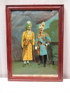 "Antique Lithograph Print H.h.The Jam Of Jamnagar & H.H.General Sir Partab Singh"""