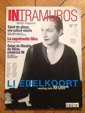 Magazine INTRAMUROS N°77 (international design magazine) Juin/Juillet 1998
