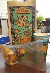 1994 Burger King Kids Club Disney The Lion King Mufasa RARE Unopened Toy Bag Cup