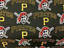 "PITTSBURGH PIRATES NFL 60"" Cotton Fabric Half Yard Fabric Traditions B"