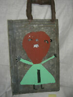 Buddy SNIPES  FOLK ART PAINTING  ON METAL OUTSIDER ARTIST signed