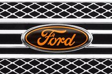 Vinyl Decal Sticker Badge Oval Logo Overlay For Ford F150 2011-2014 BLACK ORNG