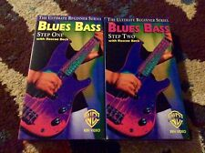How To Play Blues Bass 2 VHS Lot Roscoe Beck Excellent WB Music RARE
