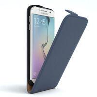 Tasche für Samsung Galaxy S6 Edge Flip Case Schutz Hülle Handy Cover Dunkelblau