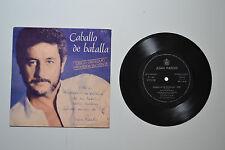 EP Vinilo Flexible papel - Juan Pardo - Caballo de batalla - Autografiado 1983