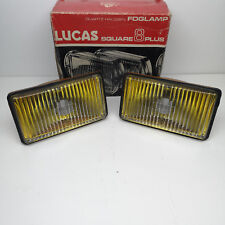PAIR LIGHTS FOG LAMP FRONT UNIVERSAL LUCAS 80 mm x 150 mm YELLOW COLOUR