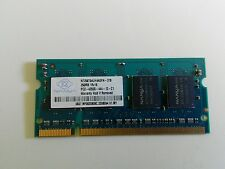 DDR RAM 256MB LAPTOP NANYA NT256T64UH4A0FN-37B PC2-4200S-444-12-C1