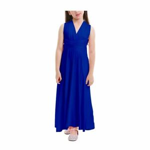 Flower Girl Multiway Wrap Dress Convertible Kids Bridesmaid Wedding Long Gown