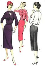 """A8181 Advance 8181 VTG 1950s Sewing Pattern Back Pleat Overblouse Skirt  B40"""" FF"""