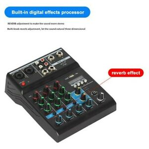 Portable Bluetooth Music Mixer Audio Mixing DJ Console Reverb Effect for Stage