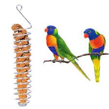 Parrot Bird Food Fruit Holder Basket Millet Feeding Cage Hanging Stand Toy