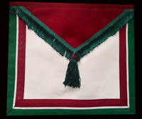 masonic regalia-ROS-MASONIC ROYAL ORDER OF SCOTLAND (ROS) MEMBER APRON (LAMBSKIN
