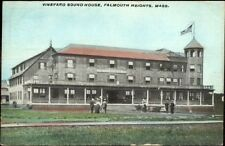 Falmouth Heights Cape Cod MA Vineyard Sound House c1910 Postcard