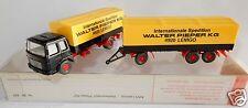 WIKING  HO 1/87 CAMION TRUCK MAN DIESEL REMORQUE WALTER PIEPER KG 4920 LEMGO box