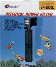 2x  Resun Innenfilter Resun SP2500L   Schnellfilter  Innenfilter mit Powerhead