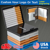 Aluminum 20PCS Cigar Cigarette Tobacco Case Holder Pocket Box Storage Container