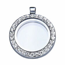 Silver Plated Round Crystal Costume Necklaces & Pendants