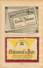 ADVERT Vineyard Wine Cotes du Rhone Chateauneuf du Pape MAP Leopold Ranc Ferme