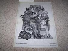 Tri-Chem 8351 THE DOCTOR AND THE DOLL Norman Rockwell LIQUID EMBROIDERY PAINTING