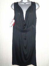 BNWT Ladies Size Large French Connection Black Belted Short Dress RRP £95