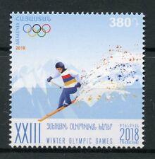 Arménie 2018 neuf sans charnière Jeux olympiques d'hiver de Pyeongchang 2018 1 V Set Ski Sports timbres