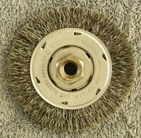 """NEW BOSCH WB568 4"""" CRIMPED CARBON STEEL WIRE BRUSH WHEEL, 1/2"""" THREADED ARBOR"""
