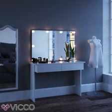 Vicco Table de maquillage Azur commode de coiffeuse LED blanc + miroir