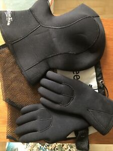 Wetsuit Neoprene Gloves S Small 5mm with free Hood (L) and bag - Swimming Kayak