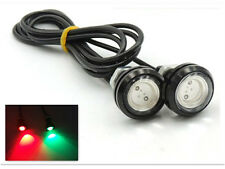 "Marine Boat Green&Red LED Plug Light 3/4"" NPT Underwater Fish 2Pcs"
