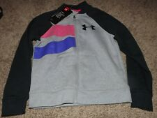 Under Armour Cold Gear Girls Rival Bomber Full Zip Fleece Youth Small (1321910)