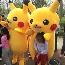 Adult Pikachu Mascot Costume Pokemon Go Cosplay Clothing Fancy Dress