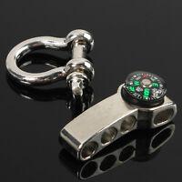 Stainless Adjustable Buckle Paracord Survival Bracelet Shackle W/ Compass JB