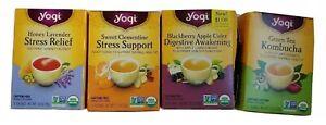 Yogi Tea 16 Tea Bags per Box Choose Flavor Honey Lavender Green Tea Stress Supp