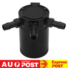 Black Full Aluminium Racing Baffled 3-Port Oil Catch Can Tank Air-oil Separation
