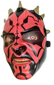 Star Wars DARTH MAUL Electronic Talking Mask Halloween Costume Cosplay WORKS