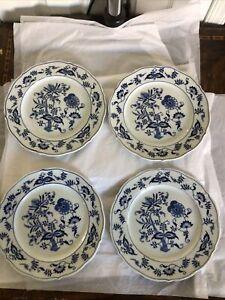 "Set Of 4 VINTAGE Blue Danube China Dinner Plates Blue & White 10"""