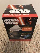 Nuevo Star Wars Estrella De La Muerte USB Cargador De Coche Disney Thinkgeek 2 Puertos Usb