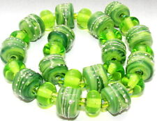 "Sistersbeads ""K-Kiwi"" Handmade Lampwork Beads"