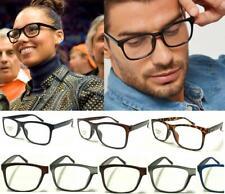 Trendy Reading Glasses Unisex Mens Ladies Nerd Retro Geek Cheap Big Lens Plain