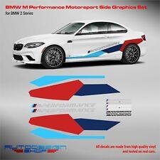 M Performance Motorsport Side Stripes decals Set for BMW M2