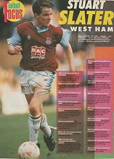 STUART SLATER WEST HAM UTD 1986-1992 ORIGINAL HAND SIGNED MAGAZINE CUTTING