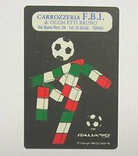 CALENDARIETTO TASCABILE / Pocket Calendar 1990 MONDIALI ITALIA '90  (cm 11x7)